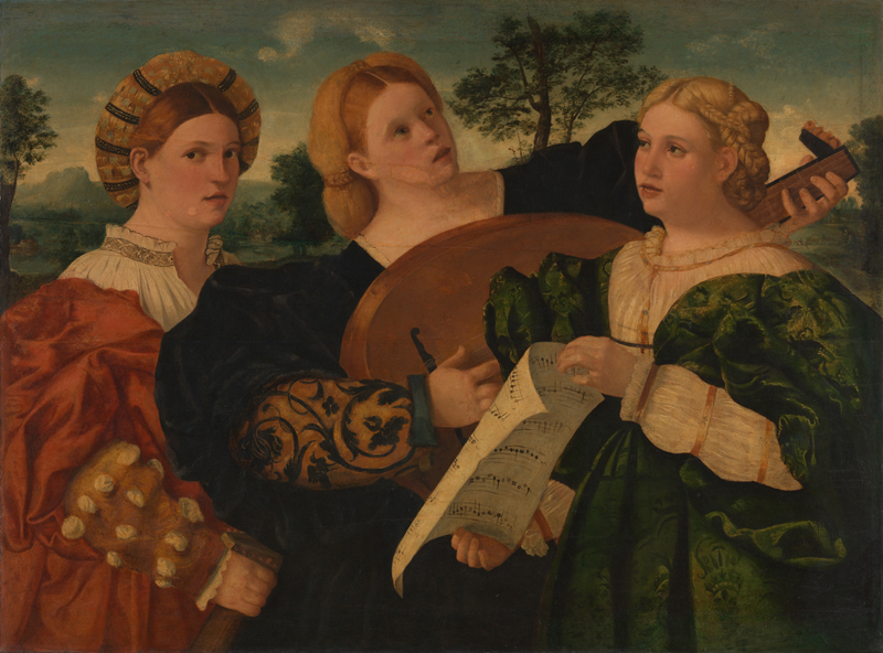 Italian, Venetian A Concert mid-1520s Oil on canvas, transferred from wood, 90.8 x 122.2 cm Bequeathed by Lady Lindsay, 1912 NG2903 http://www.nationalgallery.org.uk/paintings/NG2903