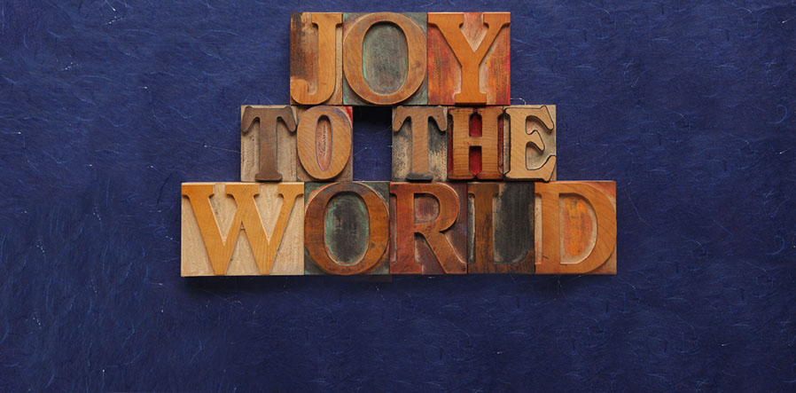 joy to the world in houten drukstempels