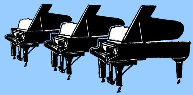 piano illustratie