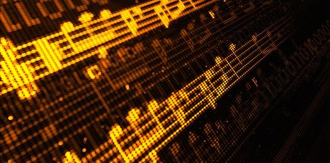 verlichte bladmuziek