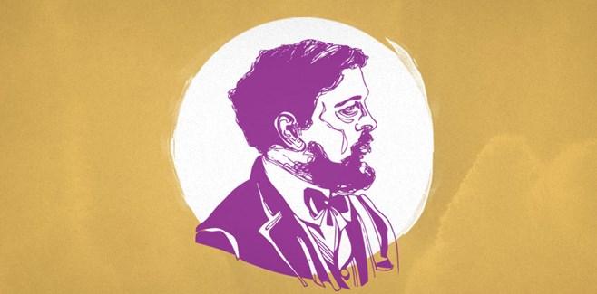 getekend portret Debussy