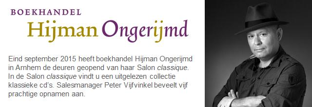 Boekhandel Hijman Ongerijmd banner 1
