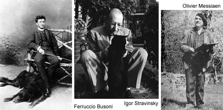 q Busoni Stravinsky Messiaen